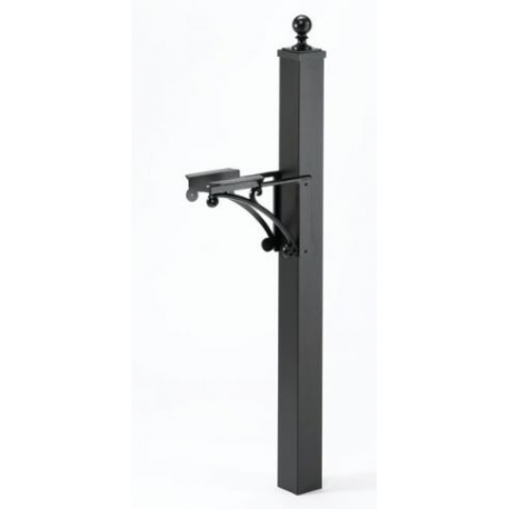 Deluxe Post and Bracket with Ball Cap- Black