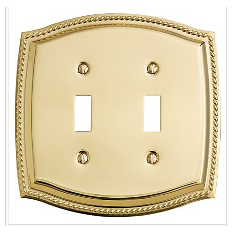 Polished Brass Roped Double Toggle