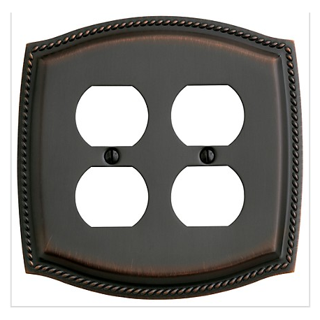 Venetian Bronze Roped Double Outlet