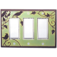 Green Songbird Triple Decora Switch Plate