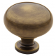 Satin Brass and Black Traditional Knob