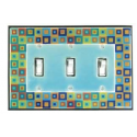 Tiny Tiles Triple Toggle Switch Plate