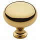 Simple Polished Brass Knob