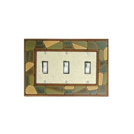 Mosaic Triple Toggle Switch Plate