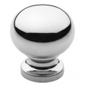 Polished Chrome Round Knob