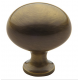 Classic Satin Brass and Black Oval Knob
