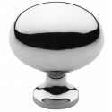 Classic Polished Nickel Oval Knob