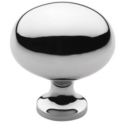 Classic Polished Chrome Oval Knob