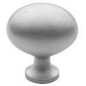 Classic Satin Chrome Oval Knob