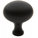 Simple Oil-Rubbed Bronze Oval Knob