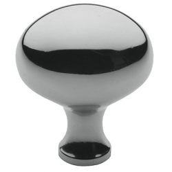 Simple Polished Nickel Oval Knob