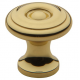 Simple Colonial Polished Brass Knob
