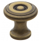 Simple Colonial Satin Brass and Black Knob