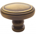 Colonial Oval Satin Brass and Black Knob