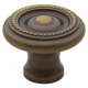 Satin Brass and Black Roped Knob