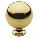 Polished Brass Classic Spherical Knob