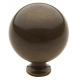 Satin Brass and Black Ball Knob