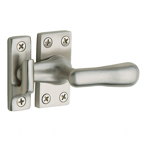 Large Casement Fastener in Satin Nickel