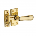 Large Casement Fastener in Polished Brass