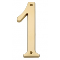 Non-Lacquered Brass House Number 1