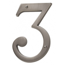 Antique Nickel House Number 3