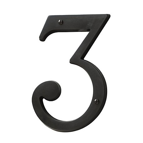 Oil-Rubbed Bronze House Number 3