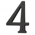 Oil-Rubbed Bronze House Number 4