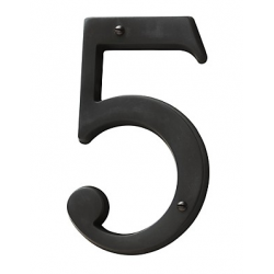 Oil-Rubbed Bronze House Number 5