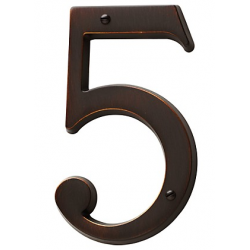 Venetian Bronze House Number 5