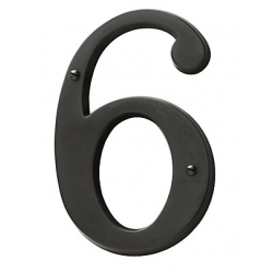 Oil-Rubbed Bronze House Number 6