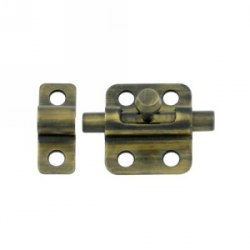 "2"" Barrel Bolt in Antique Brass 200-23"