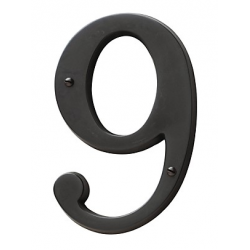 Oil-Rubbed Bronze House Number 9