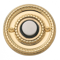 Polished Brass Beaded Bell Button