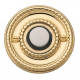 Non-Lacquered Brass Beaded Bell Button