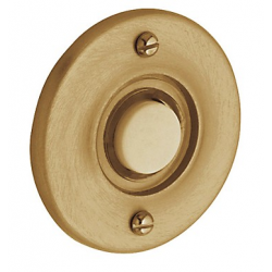 Non-Lacquered Vintage Brass Round Bell Button