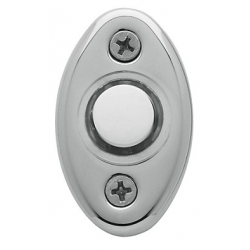 Polished Chrome Oval Bell Button