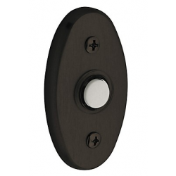 Satin Black Oval Bell Button