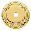 Polished Brass Ribbon & Reed Backplate