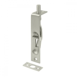 "4"" Flush Bolt in Satin Nickel 200-39"