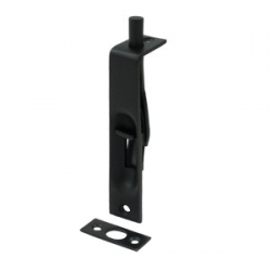 "4"" Flush Bolt in Matte Black 200-41"