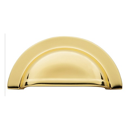 """Polished Brass Cup Pull 3"""""""