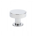 Button Knob in Polished Chrome