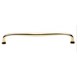 """Polished Brass Oval Appliance Pull 12"""""""