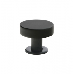 Button Knob in Matte Black