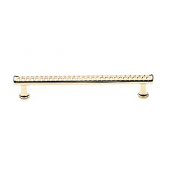 """Polished Brass Print Appliance Pull 8"""""""