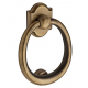 Matte Brass and Black Ring Knocker