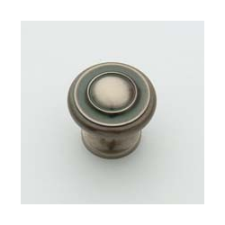 Antique Nickel Traditional Knob 1""
