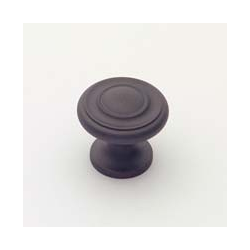 Oil-Rubbed Bronze Traditional Knob 1""