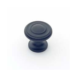 Matte Black Traditional Knob 1""