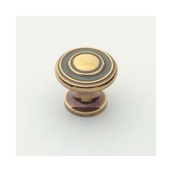 Polished Antique Traditional Knob 1""